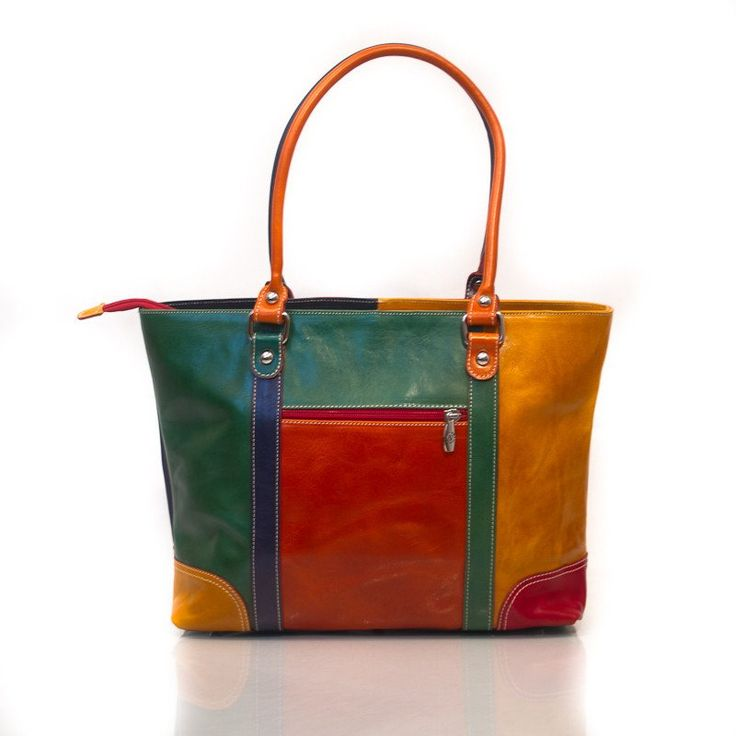 Genuine Leather Multi Coloured Shoulder Bag