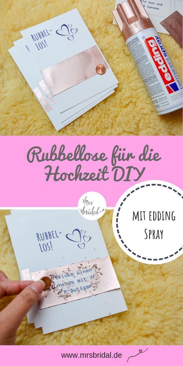 Make scratch cards with edding spray yourself  – DIY Hochzeitsgeschenke