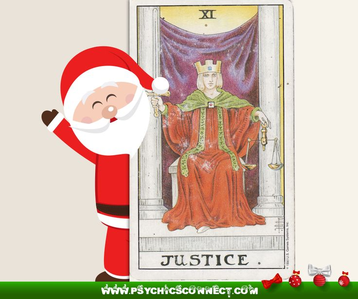The Justice card in tarot represents: - Reasonableness - Justice - Proper balance - Harmony - Equity  A crowned female figure holds the scales of justice and heavy, double – edge sword, which endows her with the stability to decide right from wrong. Her face is resolute and firm in conviction. Justice is capable of the fair administration of manners and morals according to the best interest of the persons involved. Justice, who wears no blindfold, is fair and equitable in her decisions.