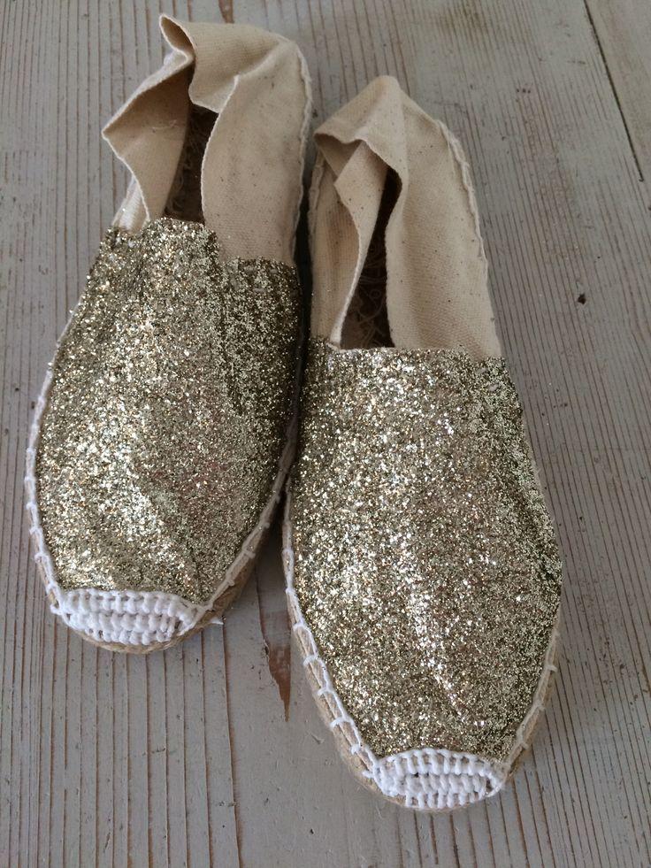 Espadrillas glitter oro