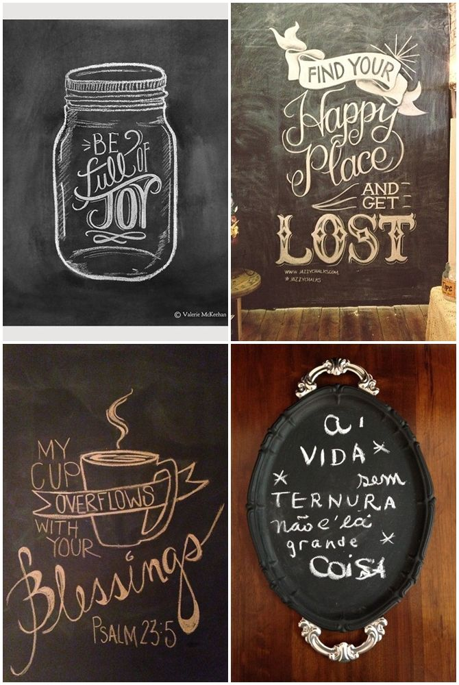 Ideias bem lindas para fazer na sua parede lousa - 05