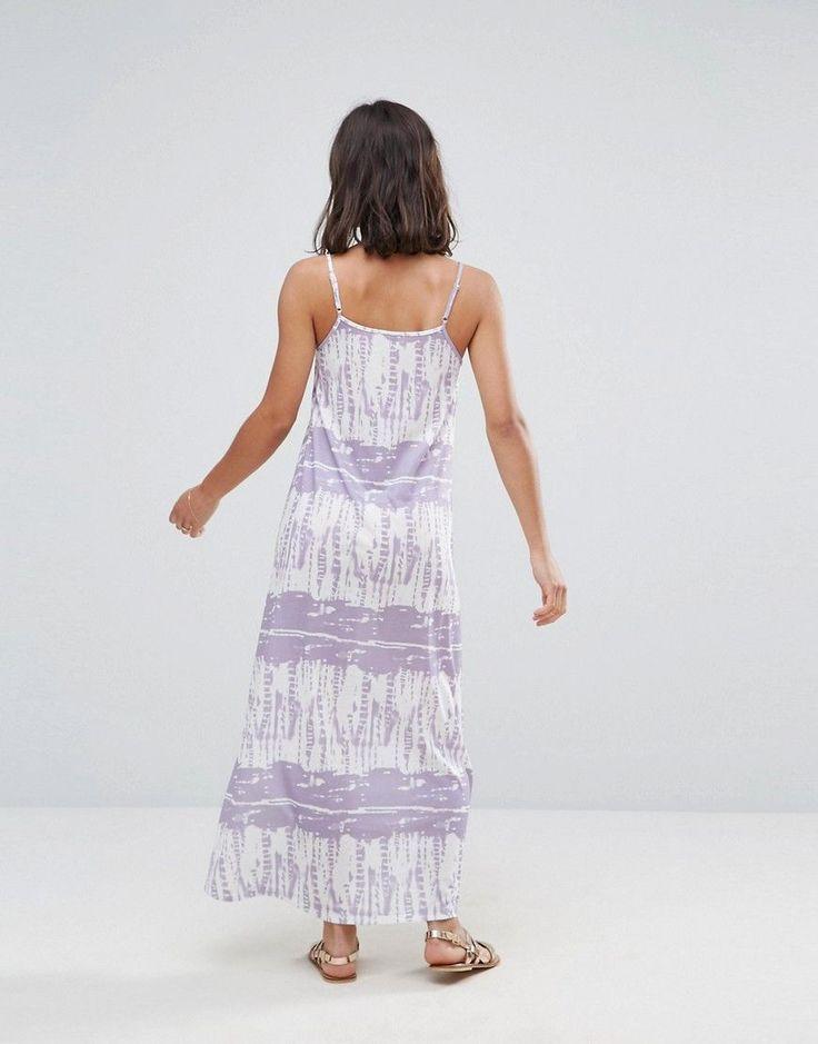 ASOS PETITE Tie Dye Maxi Dress - Purple