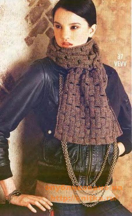 Вязание шарфа спицами: Вязание Простого, Патентным Узором, Knitting, Женщин Вязание, For Women, Вязание Шарфа, Knitting For, Шарфа Спицами, Just My