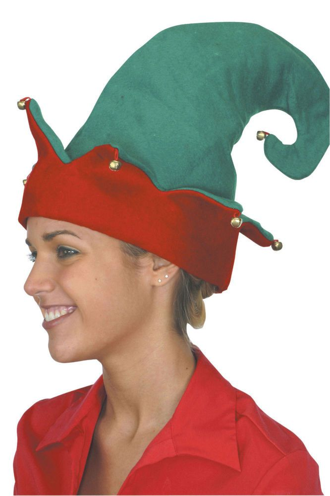 5e5ab69056df4 Elf Hat Traditional Green with Red Rim Bells Adult or Child Jacobson   Jacobson  FloppyElf