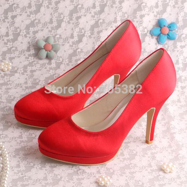 Туфли на высоком каблуке темно-фиолетовый ткань осень туфли на платформе свадебные туфли большой размер 10.5