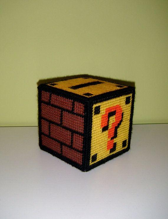 Question Mark Plastic Canvas Box Pattern PDF by limellama on Etsy, £2.00