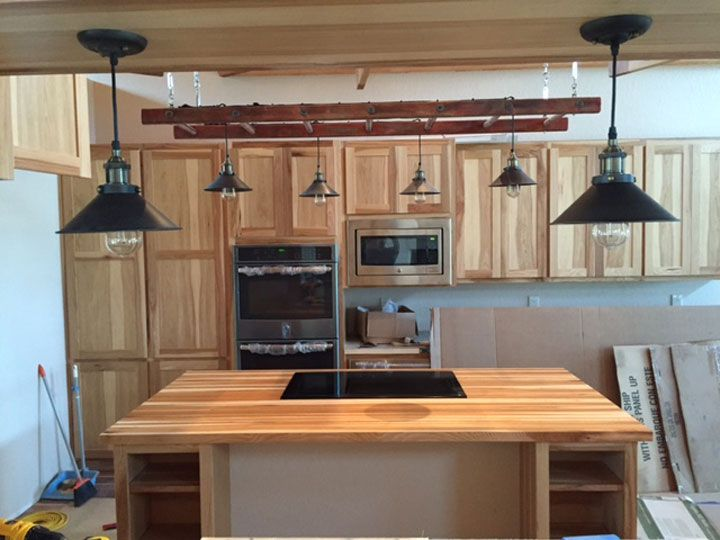 Hickory Butcher Block Countertop   Our Hickory Wood Butcher Block  Countertops Are Quality Made With Sturdy