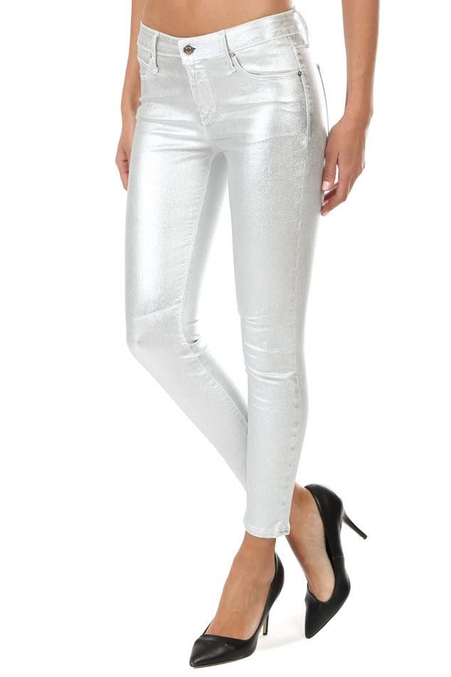a076674a3f RtA Prince Coated Skinny Jean   Blue&Cream   Spring in 2019   Blue cream,  Pants, Skinny Jeans