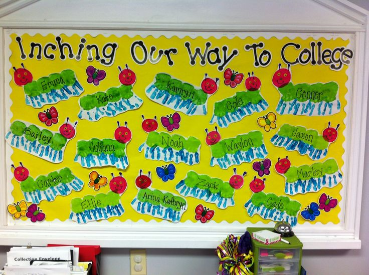 Handprint Caterpillars! This could totally support the AVID program our school uses at the elementary level.
