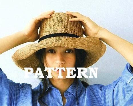 Pattern Crochet Easy Sun Hat Light Brown Tan by ShamrockArts