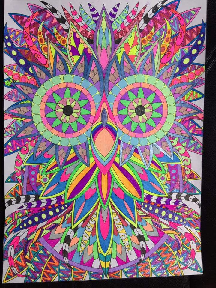 117 Best Images About Completed Coloring Pages On