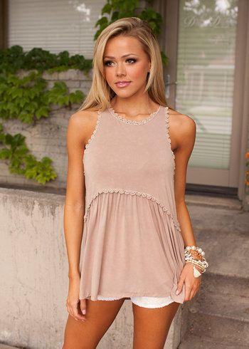 Online boutique. Best outfits. The Way It Should Be Tank Tan - Modern Vintage Boutique