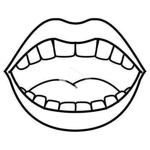 Mouth Tongue Coloring Pages Dental Health Preschool Dental Health Crafts Kids Dental Health