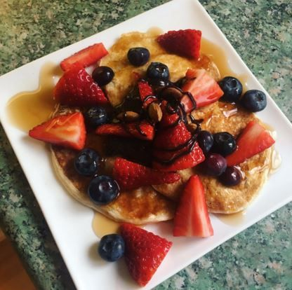 Protein Pancakes with a peanut butter centre and Zero Syrups! Breakfast does not get better than this :-) Check out our pancake mix here: http://www.theproteinworks.com/protein-pancake-mix