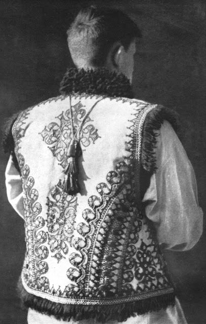 FolkCostume&Embroidery: Kyptar, Hutsul Sheepskin Vest
