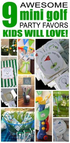 9 Awesome Mini Golf Party Favors Kids will Love. Fun, cute and easy mini-golf party favors for children.