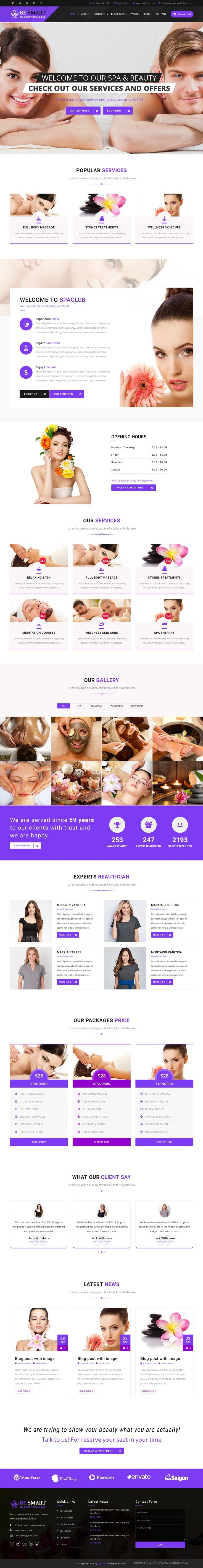Spa Club is a hand crafted Bootstrap #Template for hair #salons, wellness center, #yoga / meditation classes and all other health care businesses website. Download Now!