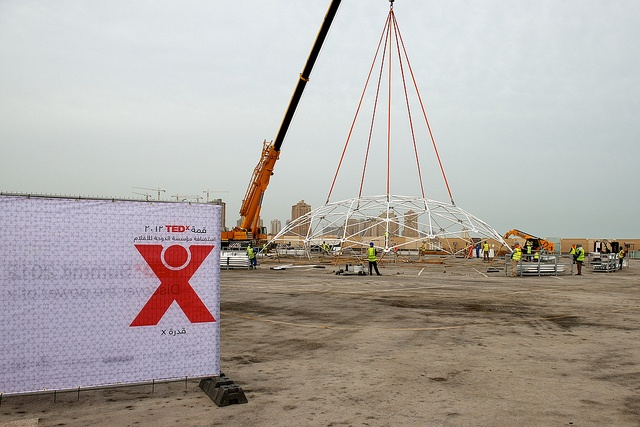 Construction continues at the site of TEDxSummit which will be April 16-20 in Katara, Qatar. Photo: James Duncan Davidson