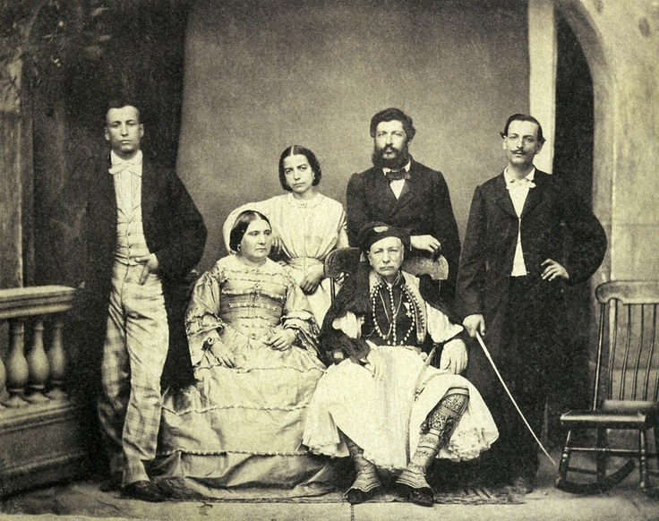 Filippos Margaritis, Athenian Family Group, 1855-60