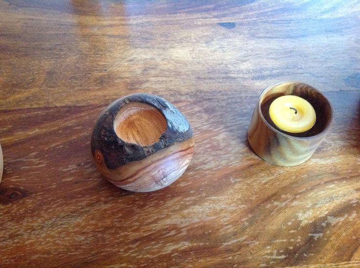 Teelicht gedrechselt aus ( Apfelbaum ) aus Grafrath