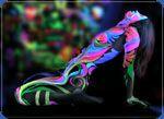 Флуоресцентная краска для боди арта от Нокстон. Купить ультрафиолетовую краску для кожи и тела Noxton for Body Art Ultraviolet