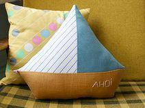 Schiff Kissen Ahoi // Boat pillow by Tante Tin via DaWanda.com