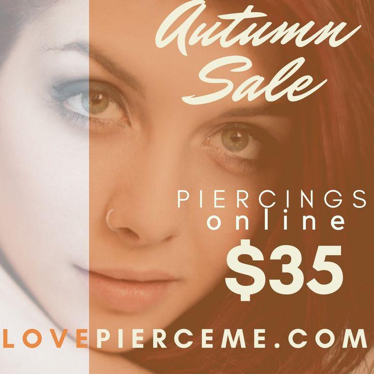 Shop the #Autumn $35 #Piercing #Sale #Online Today. http://LovePierceMe.com Buy Now...Get Pierced Later. Convenience, Quality, the Best ONLY at PIERCE ME #piercingshop #pierceme