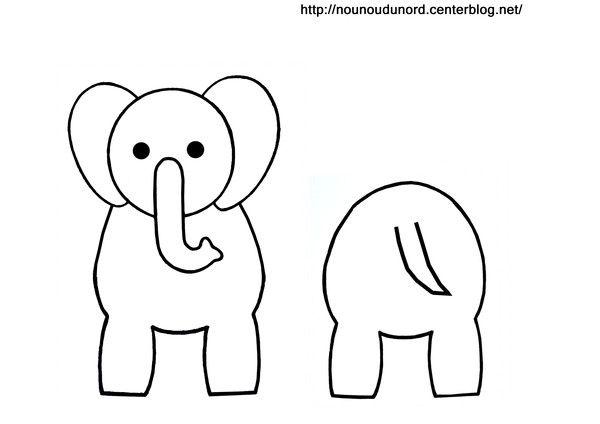 Coloriage éléphant pour rouleau de papier wc