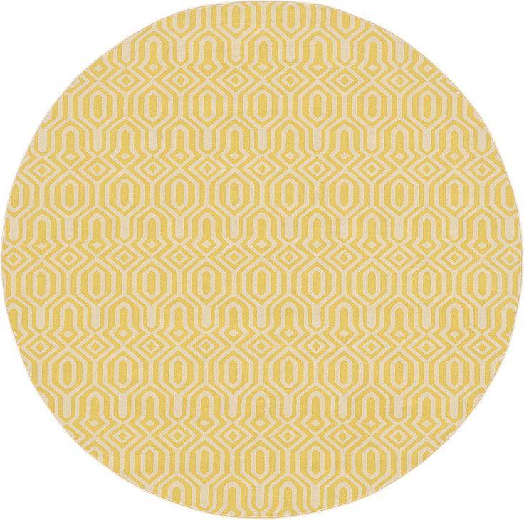 Yellow 245cm x 245cm Trellis Rug | Area Rugs | iRugs NZ