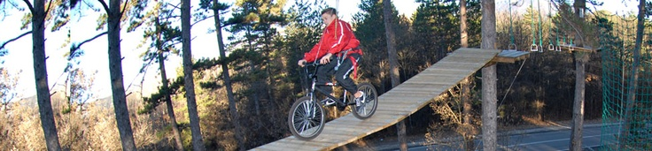Wanna cycle a BMX on the treetops?   www.zipit.ie