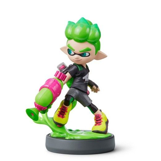 Splatoon™ Series<br><br>Get cool in-game extras with amiibo™ accessories and compatible games. Just tap an amiibo accessory to the NFC touchpoint on a compatible system to enjoy fun in-game extra features in compatible games on the Nintendo Switch™ system, New Nintendo 3DS™ system , or Wii U™ console.<br><br>Games, systems, and amiibo sold separately. Visit nintendo.com/amiibo for details on amiibo functionality.