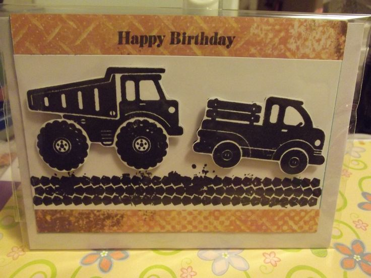Birthday card that I made using Close to my Heart stamps and inks.