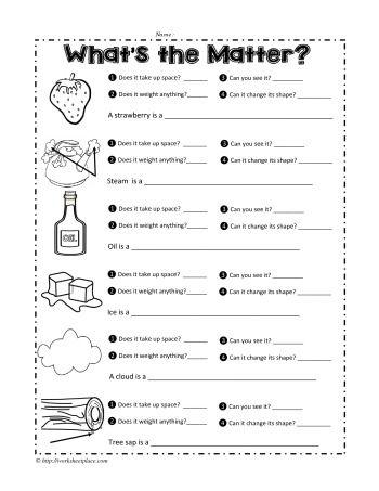 a matter worksheet ideas matter worksheets states. Black Bedroom Furniture Sets. Home Design Ideas