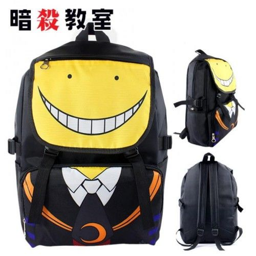 Black Nylon Assassination Classroom Shoulder Bag Backpack Book Bag