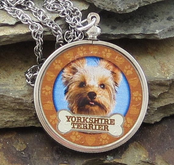 Yorkshire Terrier Dog Coin Pendant Necklace for Dogs Best Friend, JFK Half Dollar Jewelry, Donate to K9 Stray Rescue League, Dog Rescue