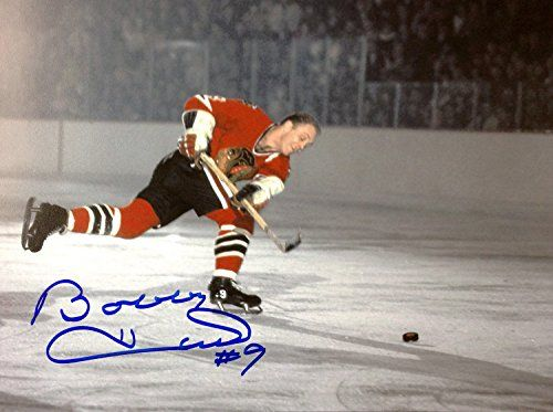 Bobby Hull 51st Goal 8X10 Autographed Photograph - Chicago Blackhawks