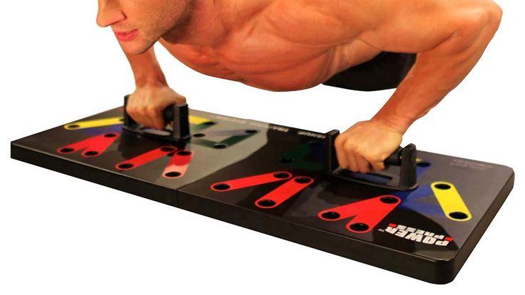 Power Press Push Up Training System #fitnessgadgets #exerciseequipment #fitnessequipment #strengthtrainingequipment #pushupstands #coolstuff #coolthings #awesomethingstobuy #coolthingstobuy