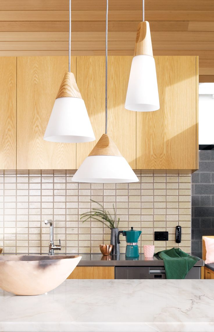 Odense Large Coolie Pendant in Ash/Frosted Glass