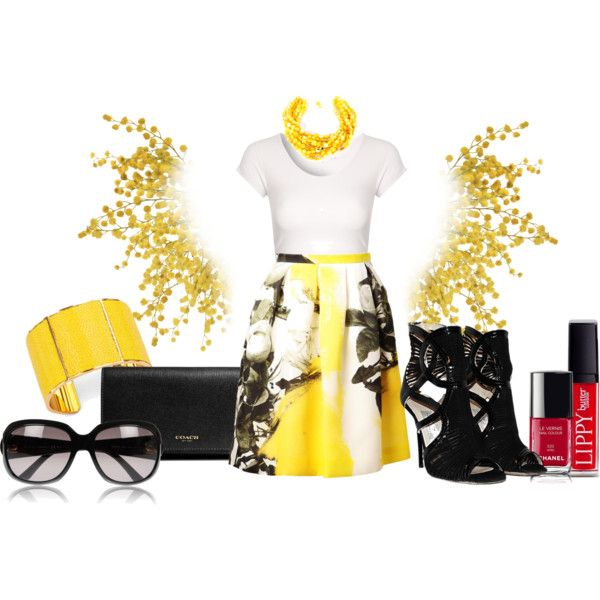 """yellow"" by dfanny on Polyvore"