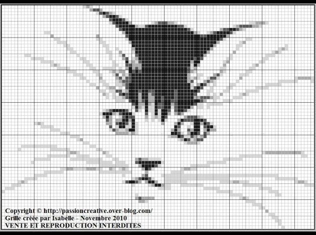 Free Cross Stitch Pattern - Cat