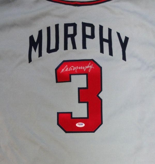 Dale Murphy Autographed Atlanta Braves Gray Jersey PSA/DNA