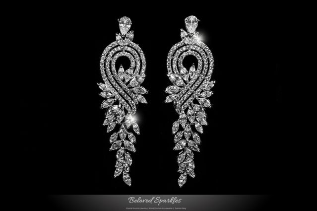 long diamond earrings - Google Search