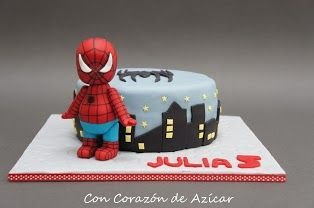 Spiderman Baby Cake