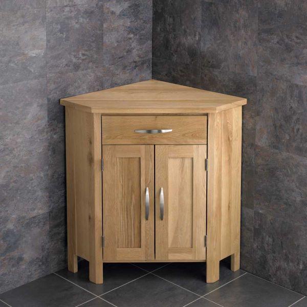 Large Corner Cabinet Oak