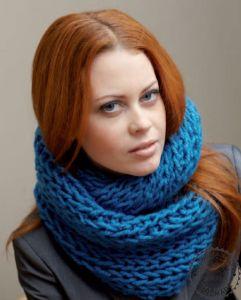 Návod na pletený šál z hrubej vlny