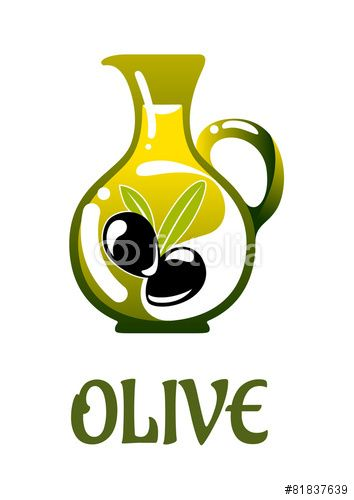 Вектор: Glass jar with olive oil
