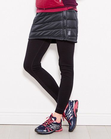 This insulated skirt by Smartwool is stylish enough to warm up your yoga tights and sturdy enough for a light snowshoe.