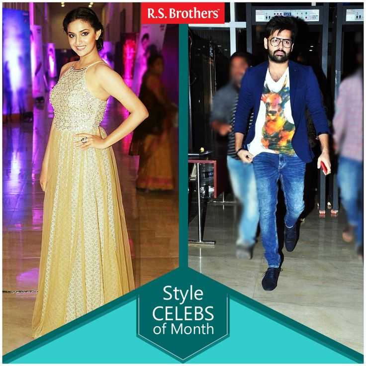 """#StyleCelebOfTheMonth Hey Folks, this week Tollywood celebrities #Ram and #KeerthiSuresh dazzled with Trendy Fashions Look for """"Nenu Sailaja"""" Movie Audio Launch."""
