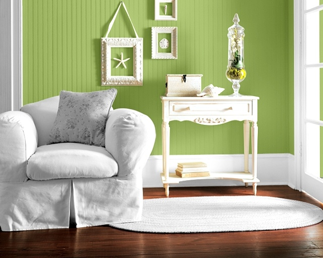 This paint by Sherwin Williams is called Lime Rickey #6717