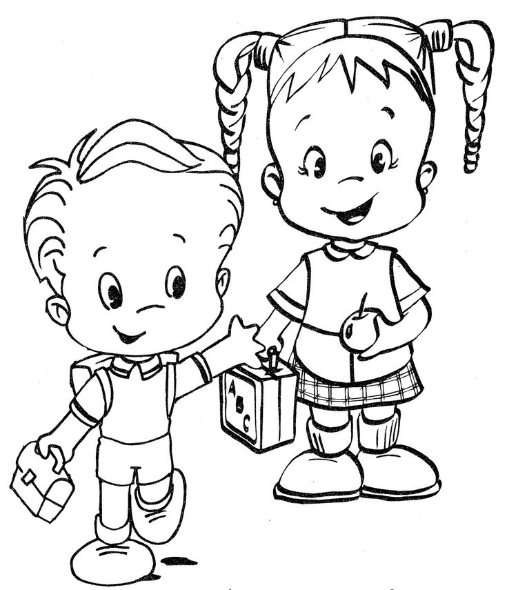 preschool coloring pages friends | 17 Best images about Preschool School/Friends on Pinterest ...